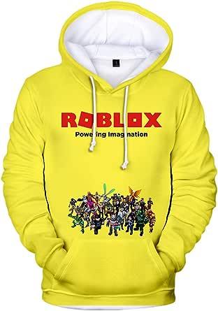 Roblox Pullover Sudadera con Capucha Sudadera con Capucha for niños Tops Casuales Camisetas de Manga Larga con Estampado for niños Roblox Abrigos