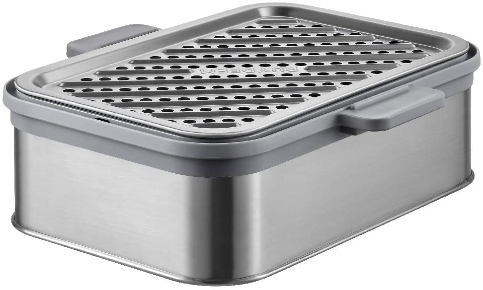 BUYDEEM Stackable Double Tier for Electric Food Steamer, with 18/8 Stainless Steel Tray & Handles, Suitable for G563 One-Touch Vegetable Food Steamer, 11 * 4 Inch