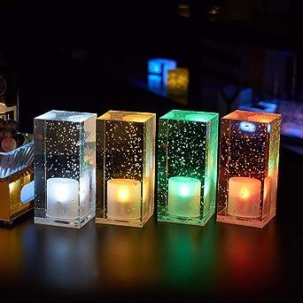 Lámpara de mesa de barra led de carga cafe restaurante lámpara de ...