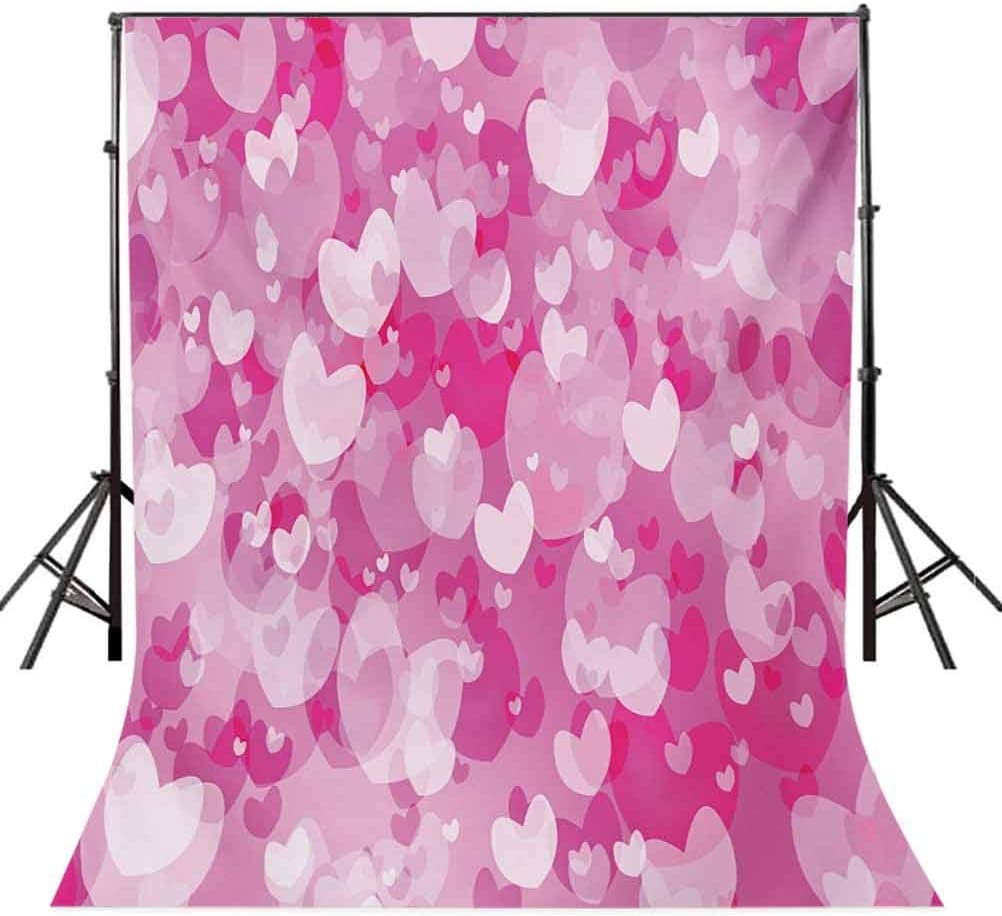 Valentines 8x10 FT Photo Backdrops,Cute Teddy Bears Celebrating Your Happy Valentines Day Cakes Balloons Background for Photography Kids Adult Photo Booth Video Shoot Vinyl Studio Props