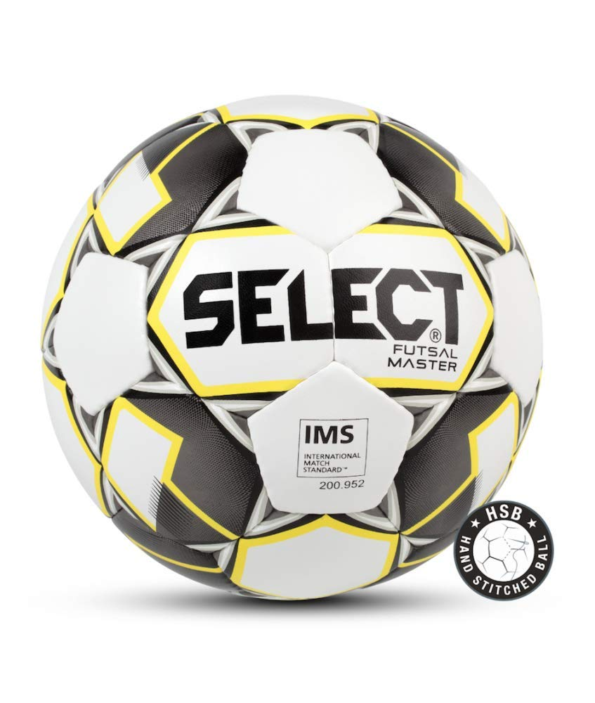 Select Master Ballon de Futsal Adulte Unisexe, White/Orange/Black, Official Size