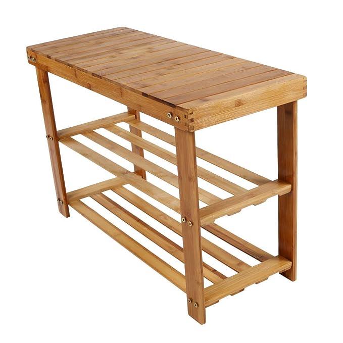 Remarkable Amazon Com Yalida 2019 Bamboo Stool Shoe Cabinet Shoe Rack Beatyapartments Chair Design Images Beatyapartmentscom