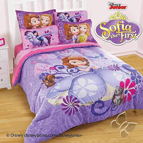 Nice JORGE'S HOME FASHION INC NEW PRETTY COLLECTION PRINCESS SOFIA THE FIRST KIDS GIRLS DISNEY ORIGINAL LICENSE COMFORTER SET 3 PCS FULL SIZE