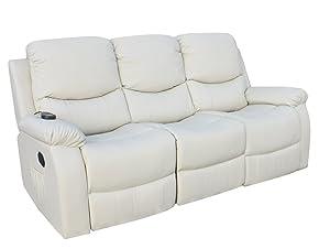 ECO-DE - ECO-8200 Sofá 3 Plazas ECO-DE® Beige con masaje integrado