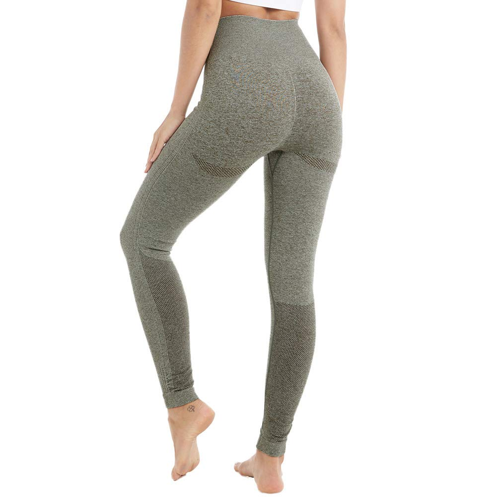 513941cec5084a Aoxjox Yoga Pants for Women High Waisted Gym Sport Ombre Seamless Leggings  product image