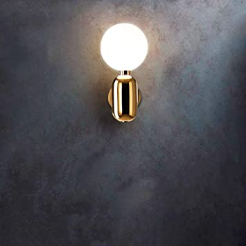 Mtgyf Moderne Lampe Verre Boule Support Nordique Mur Minimaliste FcTK13Jl