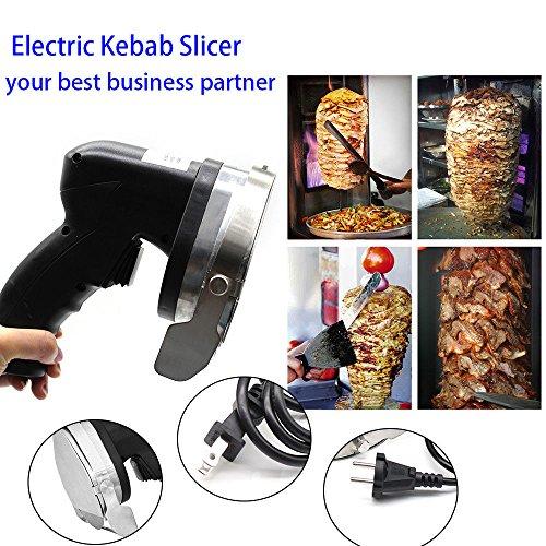 Professional Electric Shawarma Cutter Slicer Knife Gyro Doner Kebab 110V Ship From US by TFCFL (Image #5)