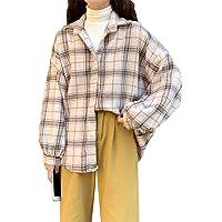 MUYOGRT Camisa Cuadros Mujer Chaqueta Leñador Blusas Transición Talla Grande Abrigo Casual Moda Manga Larga Estilo…