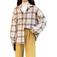 MUYOGRT Chaqueta Cuadros Mujer Camisa Cuadros Transición Talla Grande Suave Abrigo Casual Moda Manga Larga Estilo…