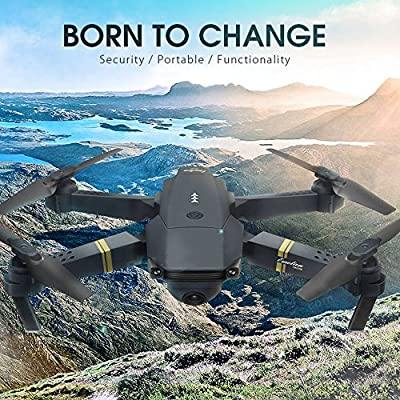 Hanbaili E58 Folding Drone with 0.3MP Camera Real-time Transmission,Gravity Sensing,One-click Return,3D Tumbling,Three-speed Adjustment,Drone with Headless mode Easy for Fly from Hanbaili