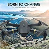 Hanbaili Upgraded E58 Folding Drone with 2MP Camera Real-time Transmission,Gravity Sensing,One-click Return,3D Tumbling,Three-speed Adjustment Drone for Adults