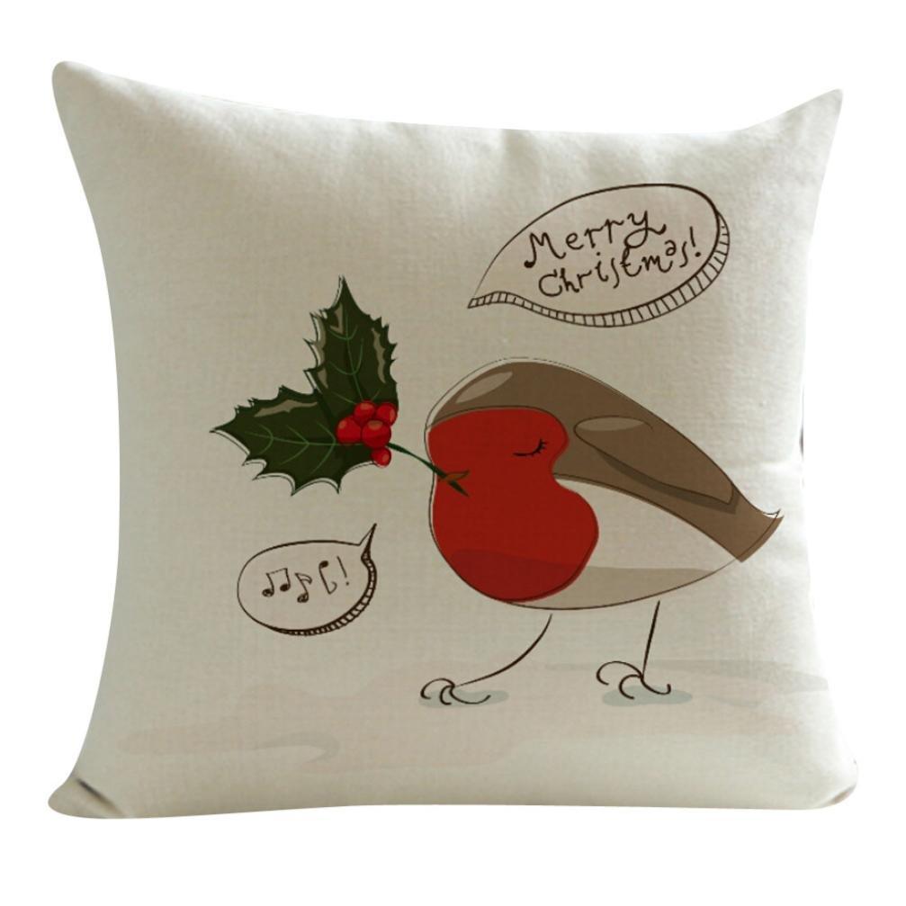 枕カバー、neartimeクリスマスDayフェスティバル装飾クッションカバーCelebrate 45cm*45cm/18*18