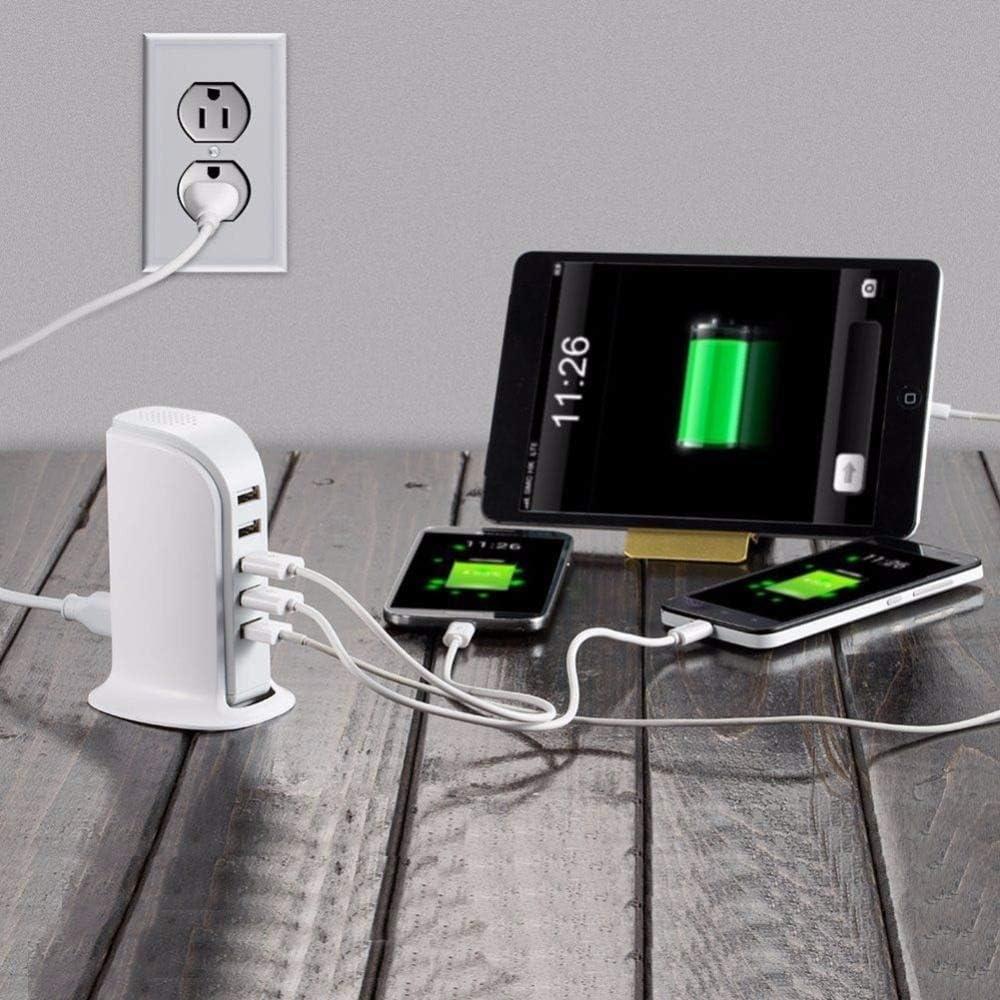 Standard : UK Plug Multiprise EU UK Plug 5 Ports USB Chargeur 30W Adaptateur secteur Hub 4A Prise de charge murale Prise de charge intelligente 5 ports Port de bureau Powerport