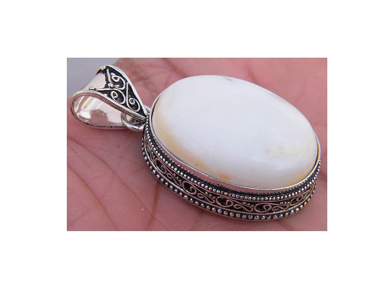 Handmade Pendant Jewelry Surbhi Crafts Brecciated Mookaite Pendant AH-12530 Silver Plated Designer Pendant