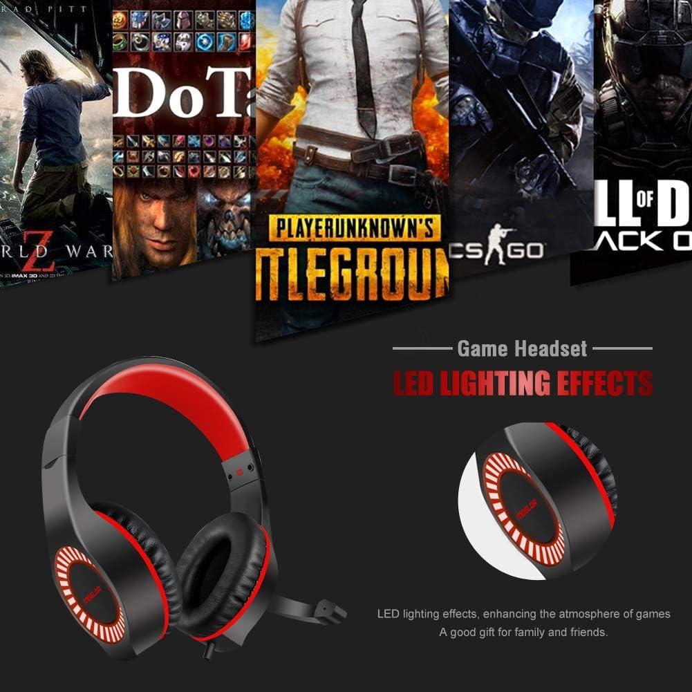 Auriculares Cascos Gaming PS4 Gamer PC con Micr/ófono Diadema Est/éreo 3.5mm para Switch