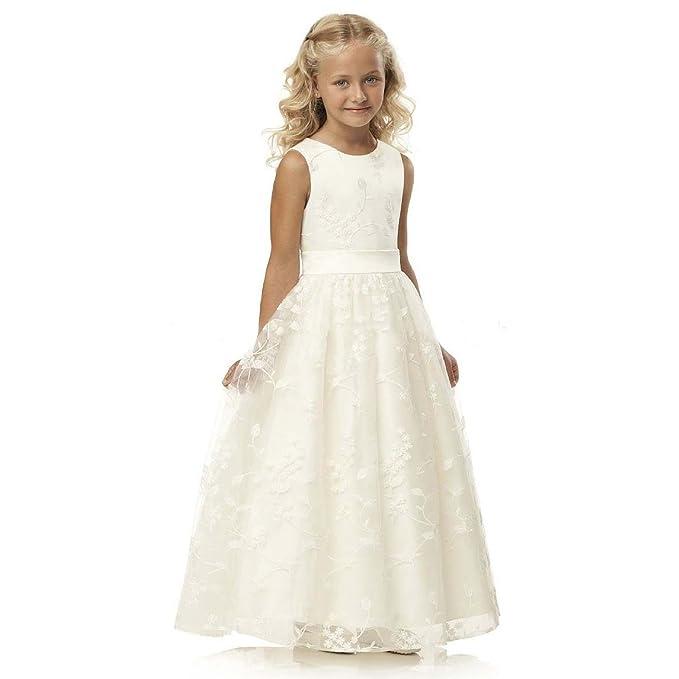 YoYodress Princesa Sin mangas vestido de niña de las flores de Cordón vestido vestido de primera