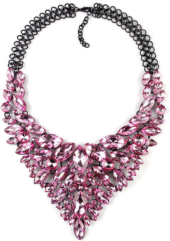 YAZILIND clásico Colgante de Piedras Preciosas Collar Retro suéter Cadena Accesorios Mujeres Fiesta joyería Regalo