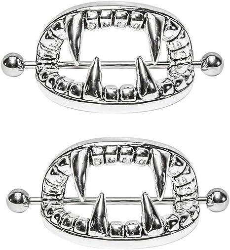 Amazon Com Nipplerings Piercing Women Kredy 2pcs Stainless Steel