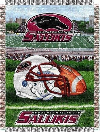 The Northwest Company NCAA Southern Illinois Salukis Home Field Advantage Woven Tapestry Throw, 48