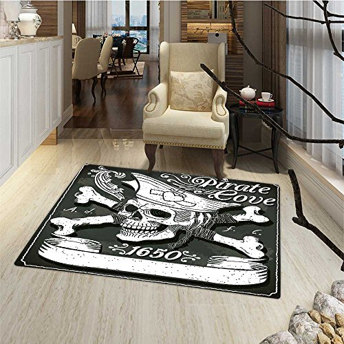 Pirate Door Mat outside Pirate Cove Flag Year of 1650 Vintag