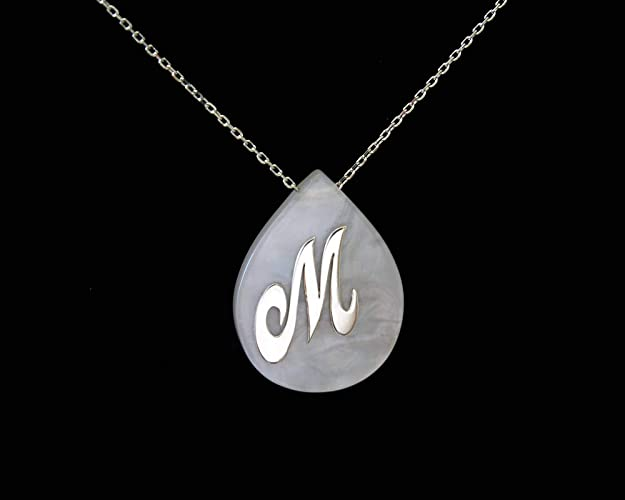 Amazon Com Initial Necklace Personalized Necklace Sterling Silver