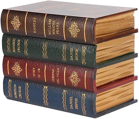 Qkiss Cajas de Libros Decorativas Caja de Almacenamiento de ...