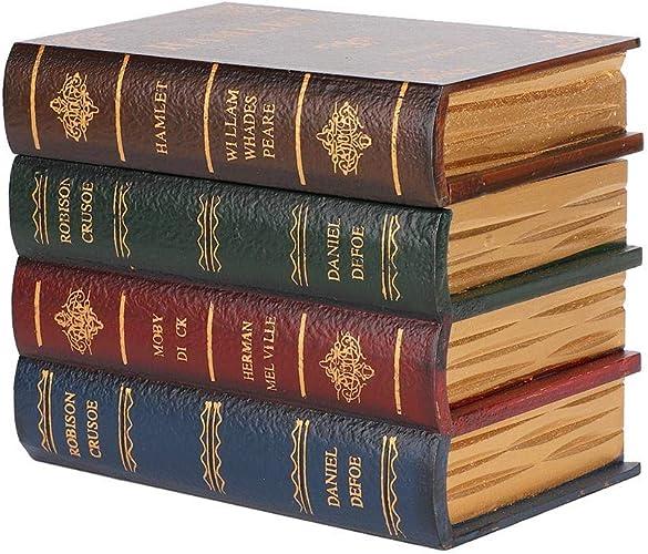 Caja de Almacenamiento de Forma de Libro de simulación Vintage ...