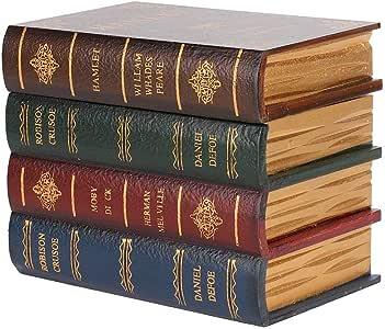 Qkiss Cajas de Libros Decorativas Caja de Almacenamiento de Simulación Vintage Libros Decorativos Caja de Joyería Caja Decorativa para Decoraciones para el Hogar Regalos(Talla Grande): Amazon.es: Joyería