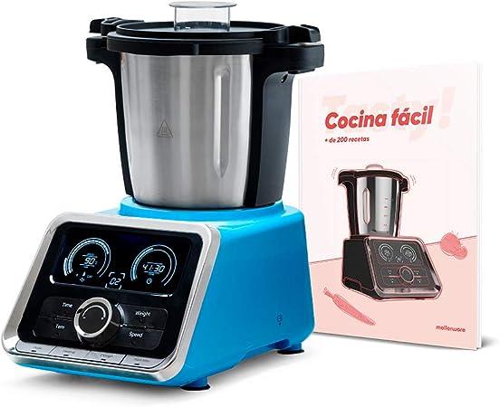 Robot Cocina Tasty! Blue. 2,5 litros de Capacidad para 4-6 Personas. 12 velocidades. Incluye recetario con mas de 200 Recetas. Acabados Acero Inoxidable. Incluye Todos Sus Accesorios: Amazon.es: Hogar