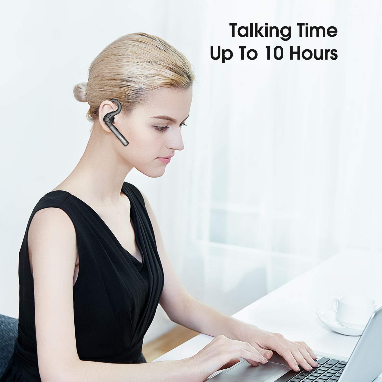 Nenrent S580 Auricular Bluetooth, más Tiempo de conversación hasta 12-15 Horas, Auricular inalámbrico Bluetooth con micrófono Manos Libres Llamadas para Celular y más