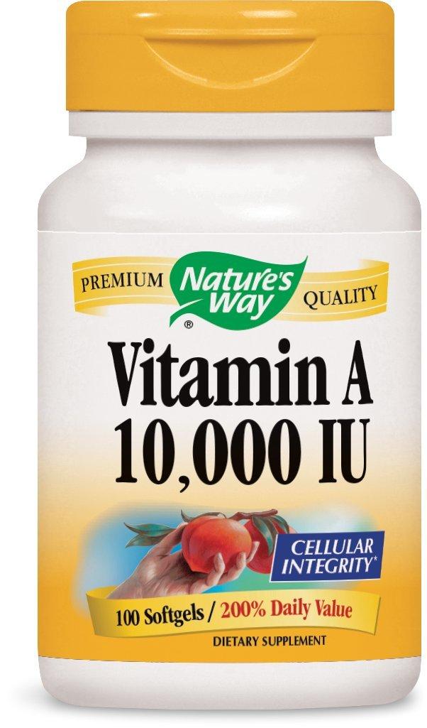 Nature's Way Vitamin A 10,000 IU , 100 Softgels