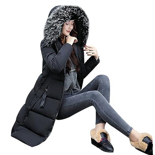 WanYang Mujer De Invierno Con Capucha Gruesa Chaqueta Jacket De Algodón De Manga Larga