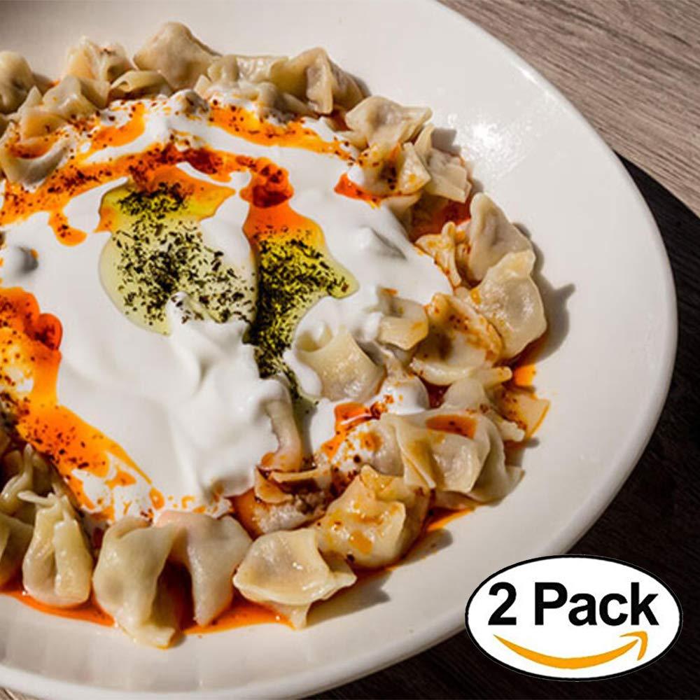 Turkish manti mantı - Dried food (2 packs - 1 kg) macaroni vegan pasta backpacking meals camping food chalet dining, Mountain House food spaghetti noodles