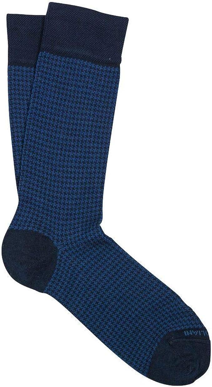 Marcoliani Milano Mens Over The Calf Tailor Stripes Cotton Dress Socks