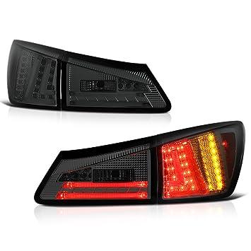 vipmotoz 2006 - 2008 Lexus IS250 IS350 IS-F LED todoterreno humo lente cola luces, conductor y pasajero lateral: Amazon.es: Coche y moto