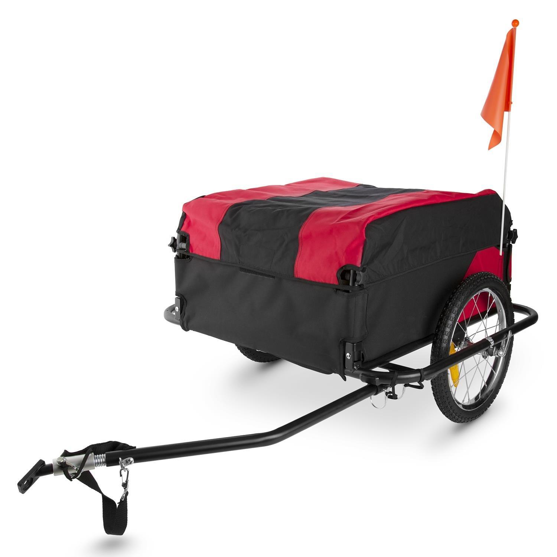 Ein typischer Lastenanhänger für das Fahrrad mit Wetterschutzabdeckung*