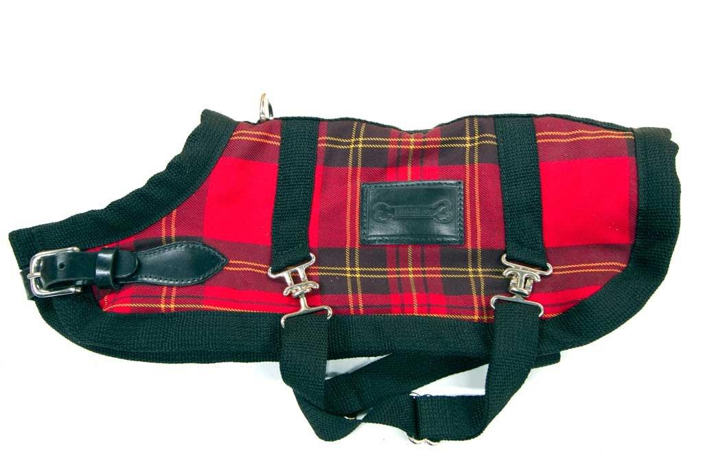 blueemax 24.5-Inch Dog Coat, X-Large, Red Plaid