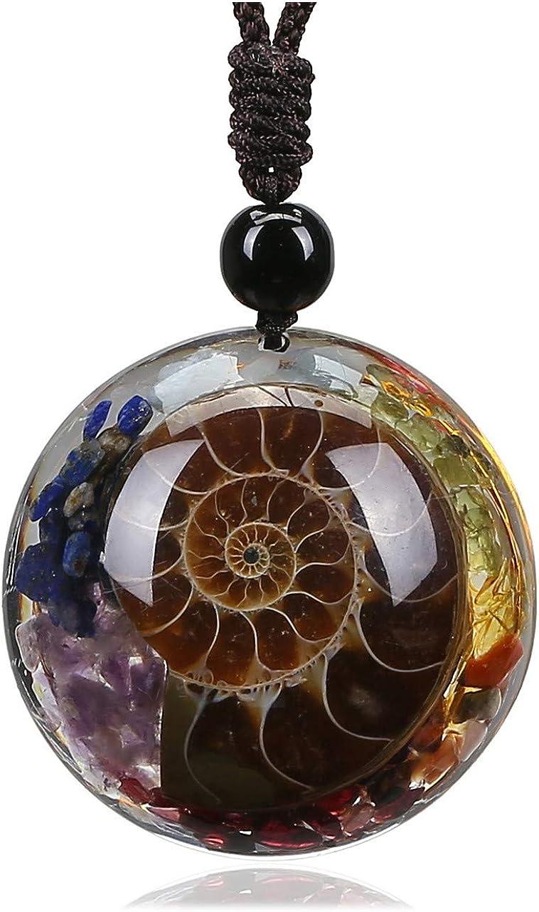 Citrine spiral pendant