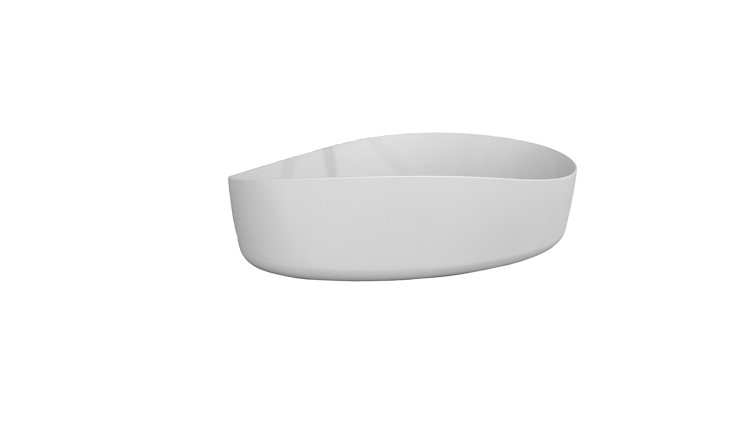 ID Harmony Solid Surface 24 in. Vessel Sink Bowl Above Counter Sink Lavatory by ID Bath Collection