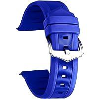 BINLUN Correa Reloj silicona 7 colores Correas de goma repuesto para hombres y mujeres (12mm /14mm/16mm/18mm/19mm/20 mm…