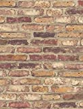 NextWall Faux Rustic Red Brick Peel and Stick Wallpaper