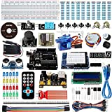 Smraza Starter Kit for Arduino, UNO R3 Kit with Ultrasonic Sensor, Motors, UNO Board, Power Supply for Arduino UNO NANO Mega2560 (27 Projects with Tutorial)