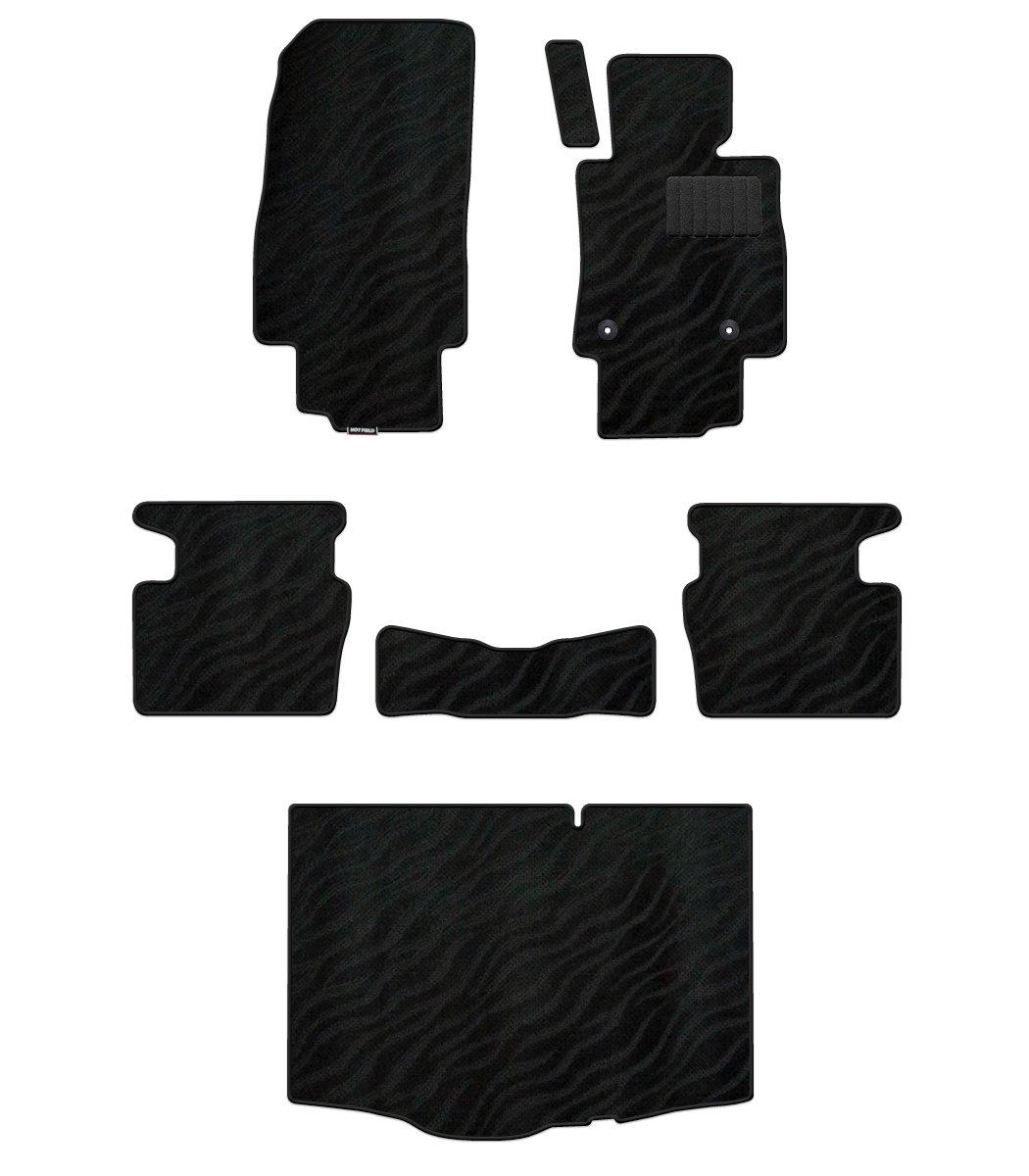 Hotfield マツダ デミオ DJ系 フロアマット&トランクマット WAVEブラック 前席マット:ロングタイプ(オリジナル仕様)フルタイム 4WD B01CXNRP8Q 前席マット:ロングタイプ(オリジナル仕様)フルタイム 4WD|WAVEブラック WAVEブラック 前席マット:ロングタイプ(オリジナル仕様)フルタイム 4WD