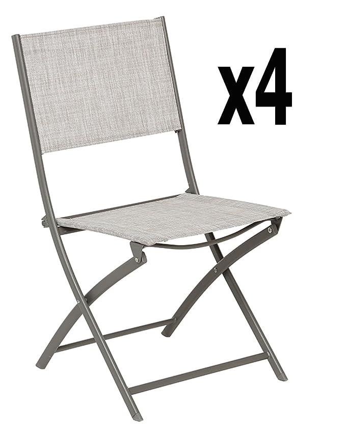 Lote de 4 sillas plegables, China BELVEDERE/mastic-Tamaño ...