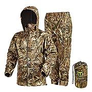 TideWe Rain Suit, Waterproof Breathable Lightweight 2 Pieces Rainwear