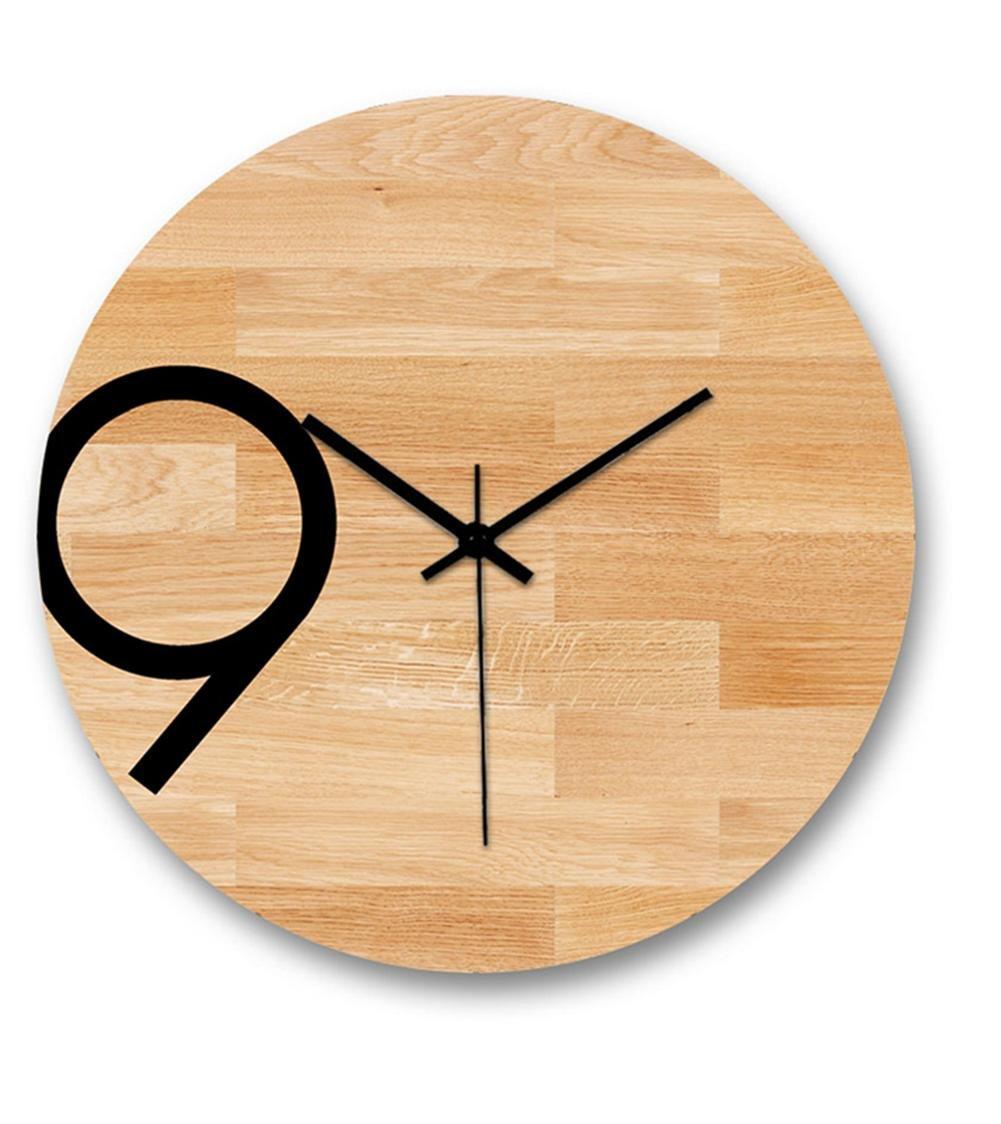 H&M Reloj de pared creativo nórdico moderno minimalista de madera tranquilo reloj de pared retro sala de estar cocina comedor dormitorio reloj de pared -30 ...