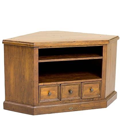 Nidoo Villiers Reclaimed Wood Corner Tv Cabinet Am Tvc 85 Amazon