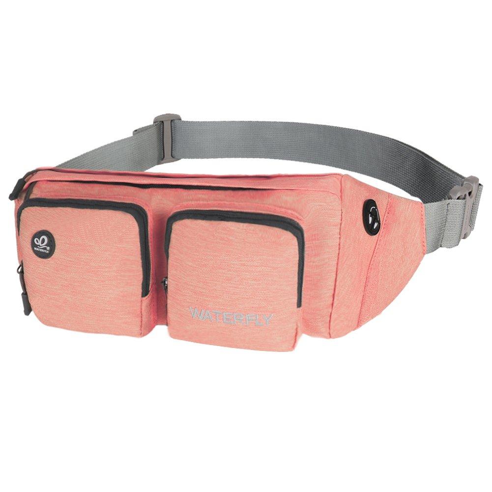 WATERFLY Fanny Pack Water Resistant Waist Bag Hip Pack for Men Women Travel or Running Walking