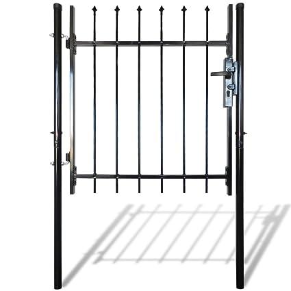 Amazon.com : Festnight Single Door Garden Fence Gate with Spear Top ...