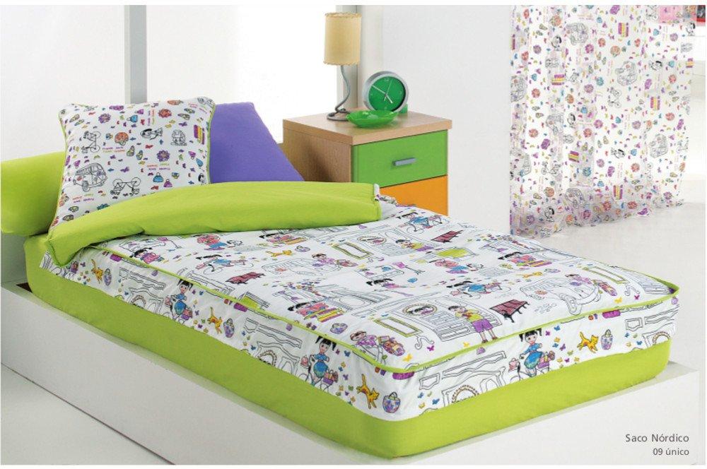 Textilonline - Saco Nordico Con Relleno Kids (Cama 105 cm, Color Unico)